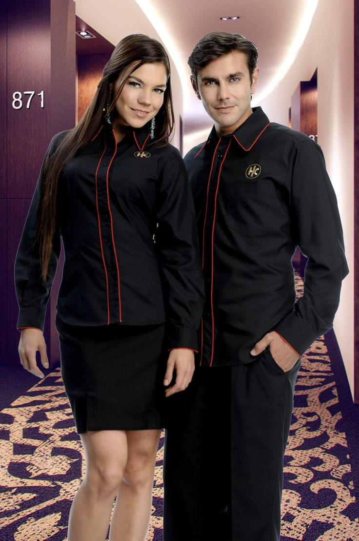 Uniforme mixto par empleados de hotel http://www.creacionesred.com.mx/