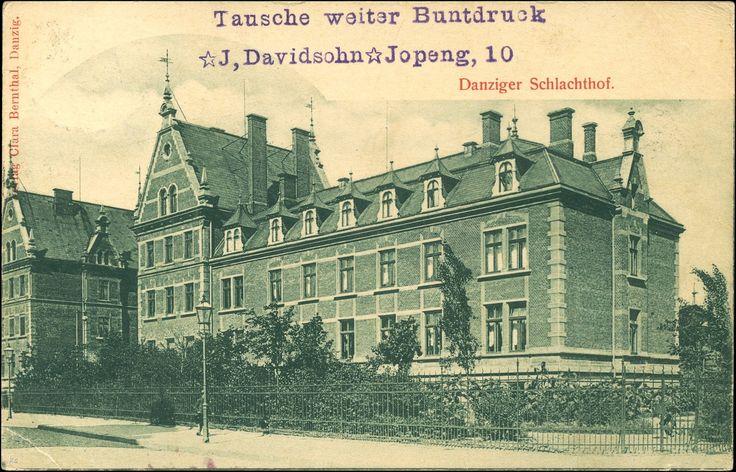 Zakłady Mięsne (Städtischer Schlachthof Danzig), Gdańsk - 1902 rok, stare zdjęcia