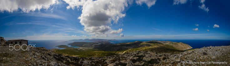 Astypalaia, The butterfly of the Aegean - View of Astypalaia from the peak of the mountain Castelano