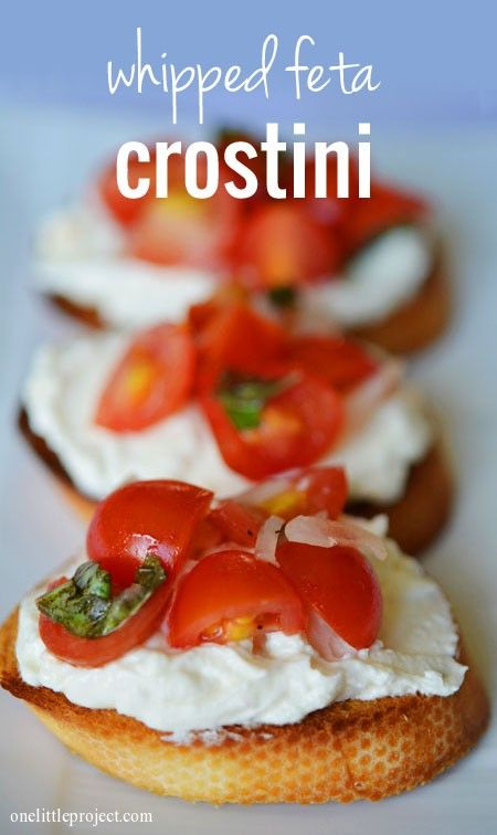 Whipped Feta Crostini Recipe - absolutely amazing.  Seriously, DELICIOUS!