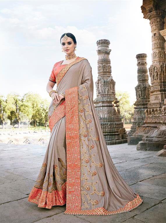 6cca4f2fc9 Sethnic wholesale heavy partywear bridal silk base saree dealer ...