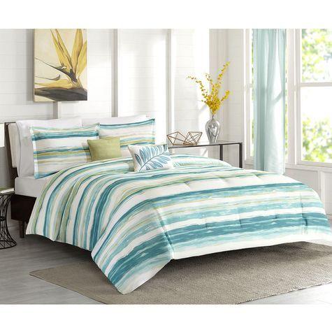Studio A Maria Blue/Aqua Comforter Set with 2 Decorative Pillows: Shopko