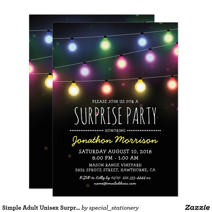 60 best Surprise Party Invitations images on Pinterest | Surprise ...