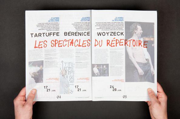 Programme Théâtre Permanent, Gwenaël Morin, 2011 (c) Akatre