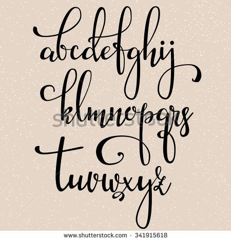 ... | Calligraphy Alphabet, Modern Calligraphy Tutorial and Calligraphy
