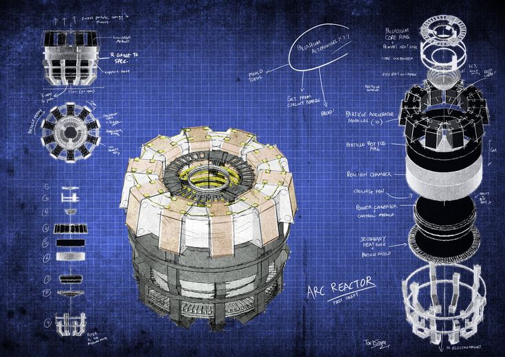 Arc Reactor Blueprints by fongsaunder.deviantart.com on @deviantART