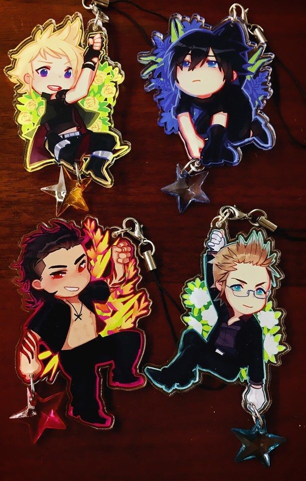 FFXV Hanging Flowers 2.5 in Acrylic Charms via Emporium for the Masses. Click on the image to see more!