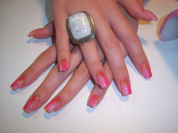 2 color nail design