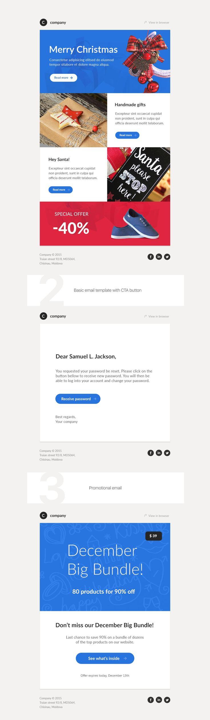 Mejores 27 imágenes de Email Templates en Pinterest | Plantillas de ...