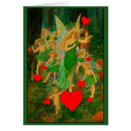 The Fairy Princess with Her Entourage Card - Saint Valentine's Day gift idea couple love girlfriend boyfriend design