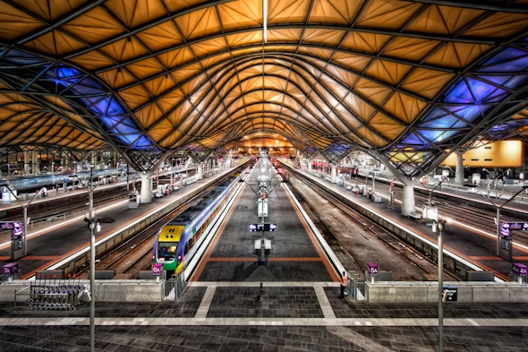 Australia Melbourne Southern Cross Station HDR