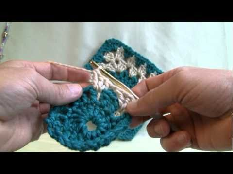 How To Make Granny Squares - Circle Centers. This is a very good tutorial. I've always had trouble following a written pattern and so am very limited to the projects I have done. Very easy to follow this teacher and am on my way to making this blanket CORRECTLY!