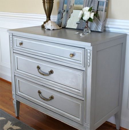 Make your own chalk paint interior crackfiller and water add to paint for painted dresser cabinet console table cupboard