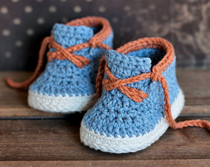 ***INSTANT DOWNLOAD*** PATTERN ONLY, NOT FINISHED BOOTIES. ENGLISH LANGUAGE ONLY. Crochet PATTERN for funky timbaland style boots! These make a beautiful gift or a feature item for your shop! Sizes 3-6mos (4 Inches) and 6-12mos (4.5 Inches) Listing is for a pdf PATTERN, not the finished product! All patterns written in standard US terms! SKILL - Intermediate Level I have included step by step instructions, stitch counts after each round, and lots of photos to help along the way, with us...