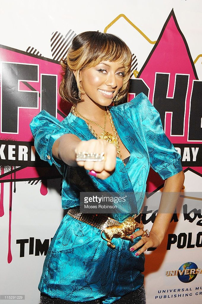 Keri Hilson arrives at her flashback birthday party at The View December 8, 2007 in Atlanta, Georgia.