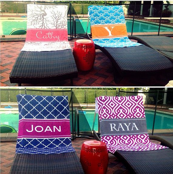 Personalized Beach Towels Custom Beach by LoveyDoveyCreations