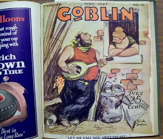 The Goblin. Canadian humor magazine founded and edited by my grandfather Joe McDougall in the mid '20s.