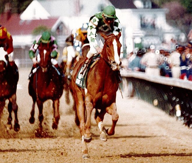 The beautiful filly Genuine Risk, one of only three fillies to win the Kentucky Derby (1980)