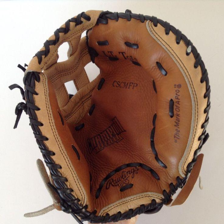 "Rawlings Baseball Mitt Catchers Fast Pitch Softball CSCMFP 12"" RHT Gold Glove #Rawlings"