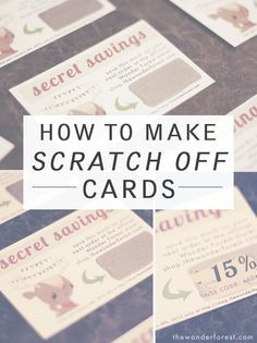 How To Make Your Own Scratch Off Cards! DIY TIME! | Wonder Forest: Design Your Life.