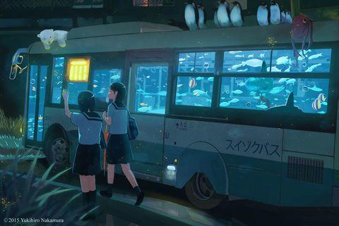 「スイゾクバス」/「中村至宏」のイラスト [pixiv]