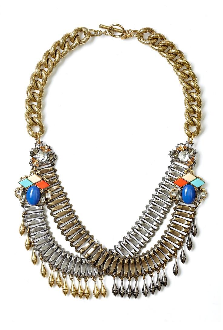 Anton Heunis Double Chain Drop Necklace