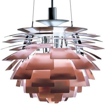 """""""PH Artichoke"""" light in copper by Poul Henningsen for Louis Poulsen"""