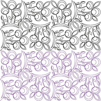 Modern Digital Quilting Patterns : Modern Flowers Basket - Digital - Quilts Complete - Continuous Line Quilting Patterns Free ...