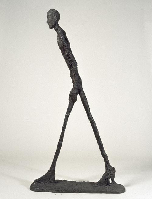 """""""Ο περιπατητής"""": Alberto Giakometti. Έργο της περιόδου 1961-1962.  """"The object of art is not to reproduce reality, but to create a reality of the same intensity."""""""