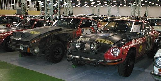 1971 & 1973 DATSUN 240Z East African Safari Rally Champions - 1971 Champion Car (No. 11, right) ..The Nissan Restoration Club will restore No.11