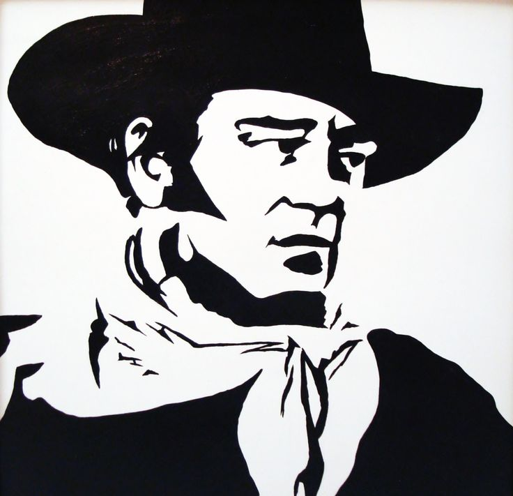 John Wayne: Black & White Pop Art. $69.00, via Etsy ...