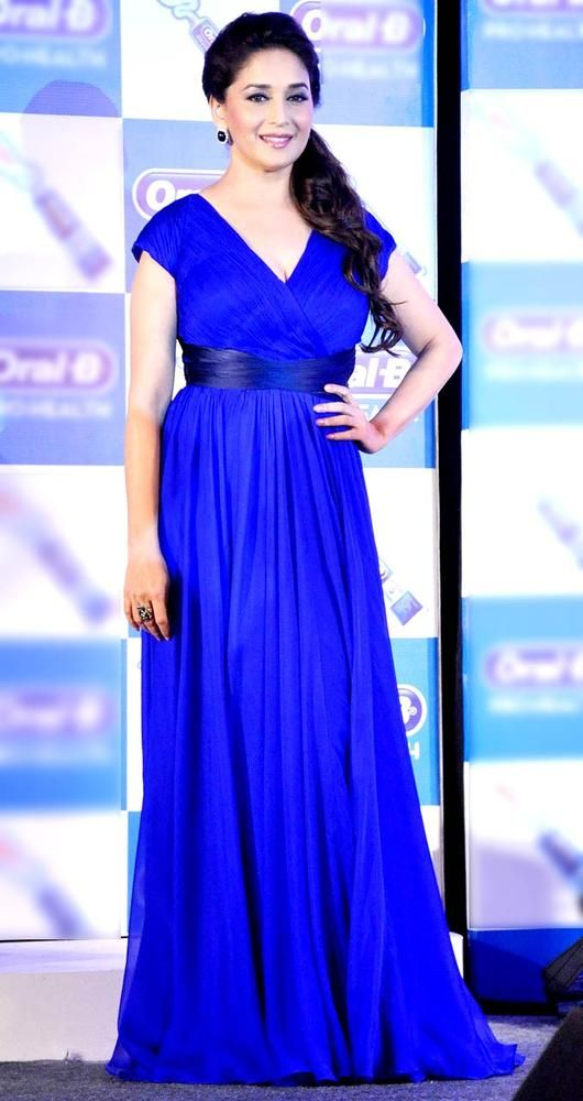 Madhuri Dixit at the launch event of a major toothpaste brand #Bollywood #Fashion