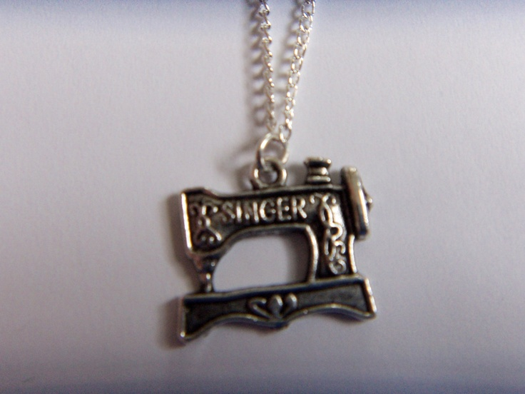 Old Fashioned Sewing Machine Necklace by TMJewelryAndSupplies