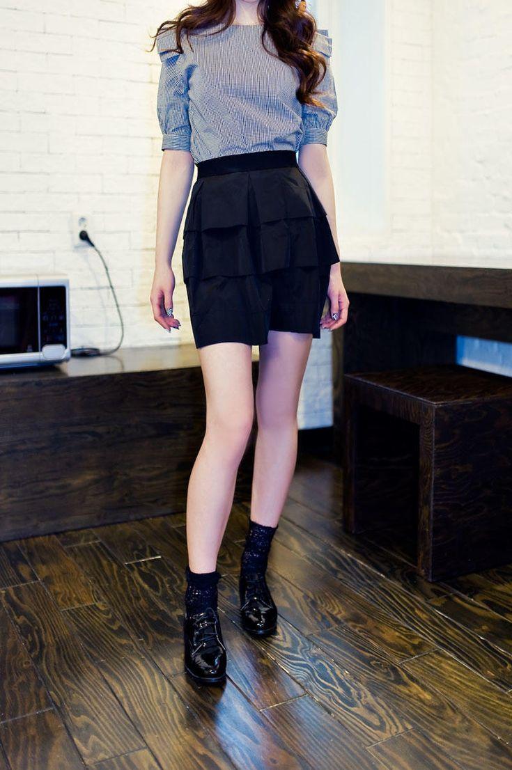 waist band stack mini skirt from Kakuu Basic. Saved to Kakuu Basic Skirts. Shop more products from Kakuu Basic on Wanelo.