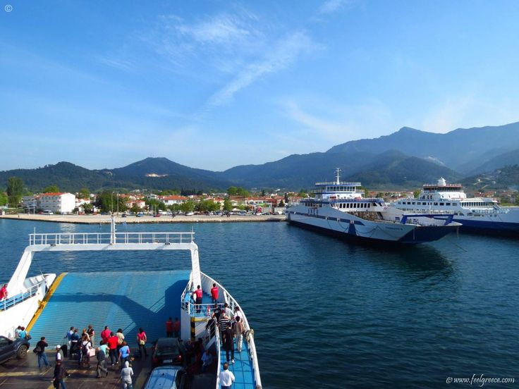 the ferry is about to reach Limenas - the capital of Thassos Island