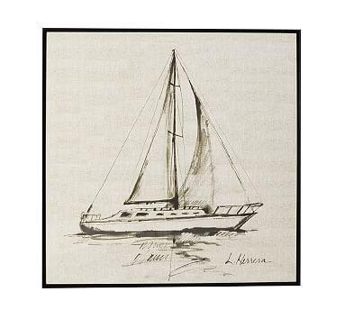 Sailboat Framed Print #potterybarn
