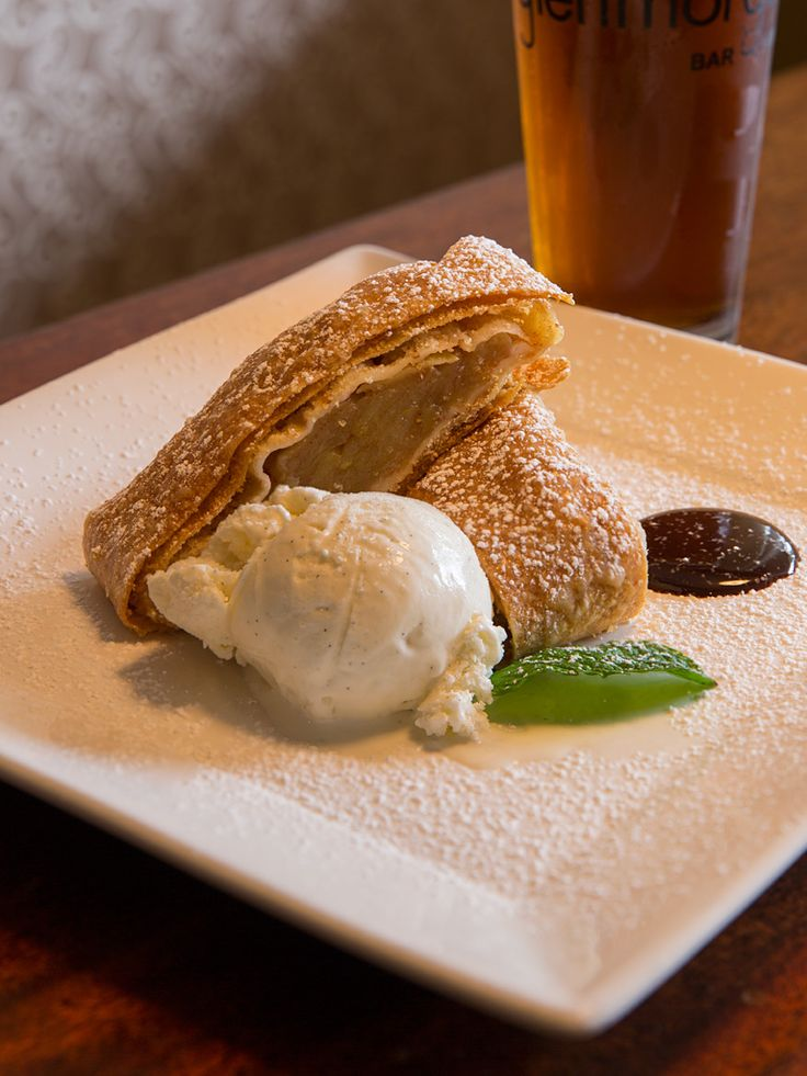 Celebrate #Oktoberfest with Glenmorgan's Apple Strudel with warm apples, flaky pastry, and vanilla ice cream.