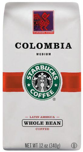 Starbucks Colombian Coffee, Whole Bean, 12-Ounce Bags (Pack of 3) - http://www.teacoffeestore.com/starbucks-colombian-coffee-whole-bean-12-ounce-bags-pack-of-3-2/