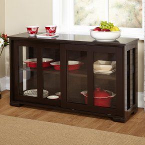Target Marketing Systems Pacific Stackable Cabinet with Glass Door - Buffets & Sideboards at Hayneedle