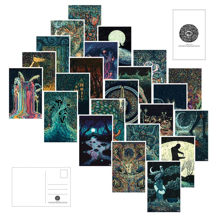 Prisma Postcards (Pack of 23) – James R. Eads Illustration #postcards $30 #tarotinspired