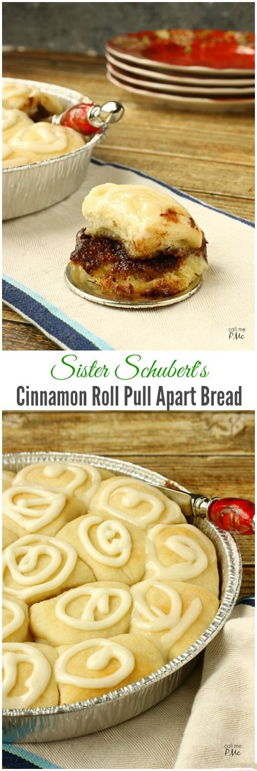 Sister Schubert's Cinnamon Roll Pull Apart Bread are buttery, full of cinnamon roll filling and topped with cream cheese frosting. The ultimate speedy way to enjoy homemade cinnamon rolls in less than 30 minutes! #SisterSchubertsHoliday ad