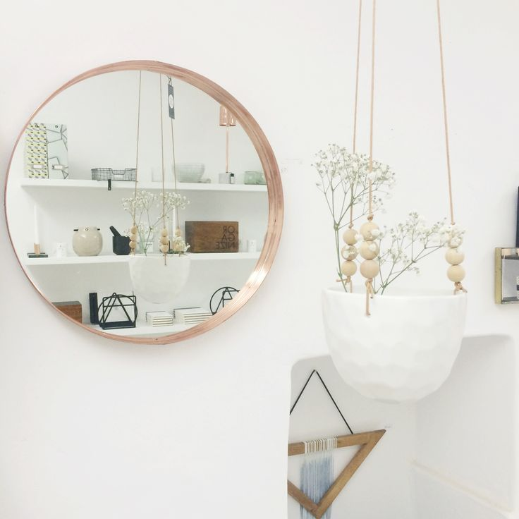 Mood Picture for l'Igloo / Planthanger and mirror from Bloomingville /  © @mytrendbook