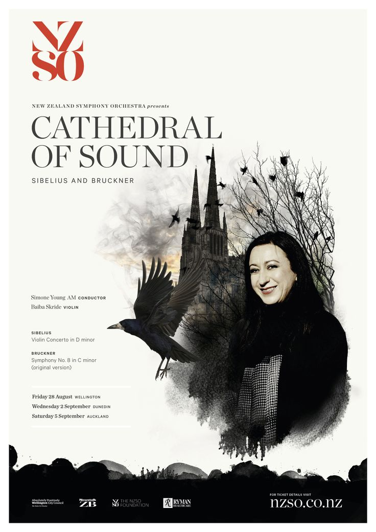 Cathedral of Sound 28 August - 5 September 2015. Music will soar above and swirl around you when the NZSO presents a powerhouse masterpiece of the repertoire, Bruckner's mighty Symphony No. 8. Controversial, awe-inspiring and ultimately sublime, this symphony is immense in scale and hugely dramatic – a true cathedral of sound. https://www.nzso.co.nz/concerts/concert/cathedral-sound2015/