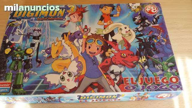 Vendo juego Digimon 3, de Falomir 2002. Anuncio y más fotos aquí: http://www.milanuncios.com/juegos-de-mesa/juego-de-caja-digimon-3-146214242.htm