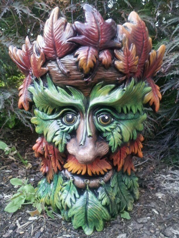 Green Man Tree Ent Planter Trolls Gnomes Garden