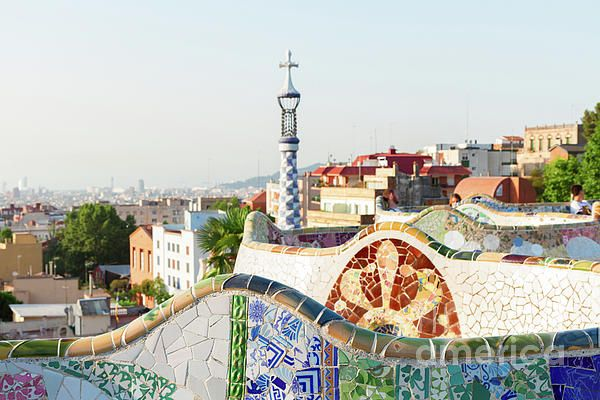 View of #Barcelona from park #Guell, #Spain by Anastasy Yarmolovich #travel #AnastasyYarmolovichFineArtPhotography