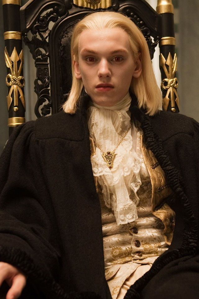 Jamie Campbell Bower as vampire Caius in the Twilight