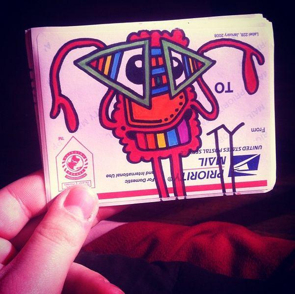 Hand drawn ty sticker cloudzbyty
