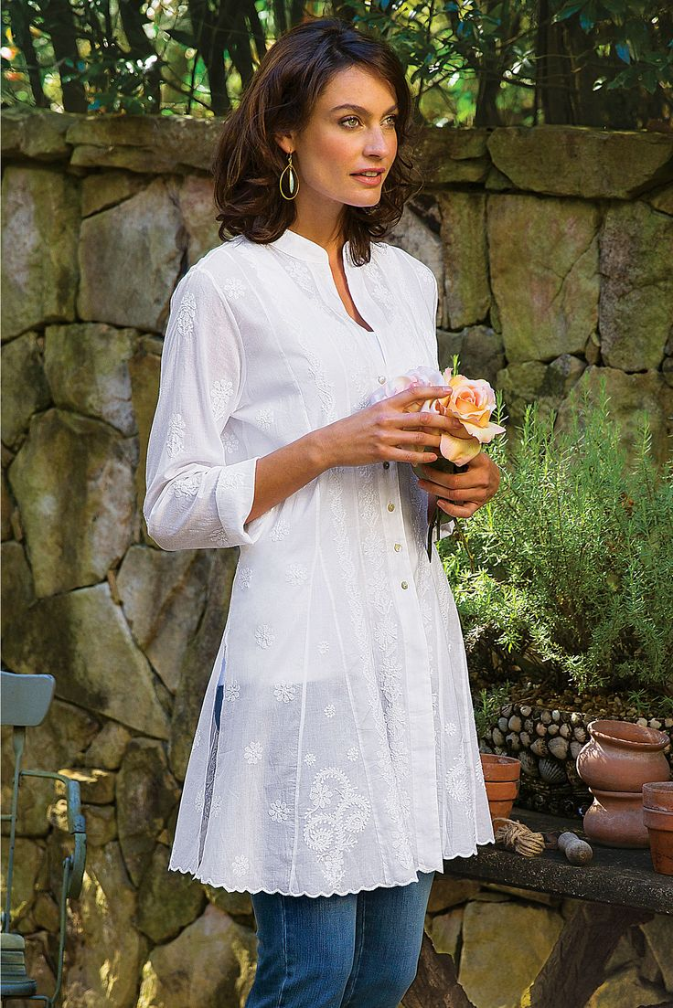 Josephine Shirt - Soft, lightweight cotton voile | Soft Surroundings