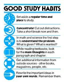 Good Study Habits - So simple, but I still need a reminder... no more cramming this semester!